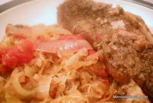Crock Pot Country Ribs & Sauerkraut