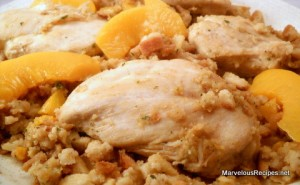 Chicken & Peach Stuffing