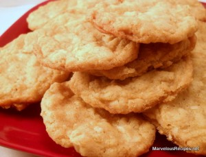 Coconut Crisp Cookies