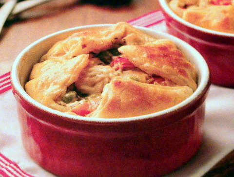Alfredo Chicken Pot Pies